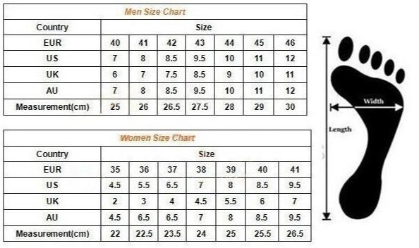 tallas zapatos para hombres