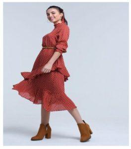 Vestidos con lunares una gran opción para vestir