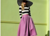 Moderniza tu atuendo con las faldas midi