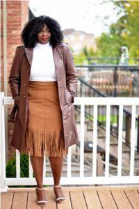 Moda con la Falda de Flecos